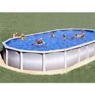 "Овальный бассейн Atlantic pool ""Гибралтар"" J-4000 (10х5.5х1.35). Наземный / Вкапываемый"